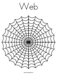 Small Picture Web Coloring Page Twisty Noodle