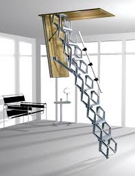 Folding Staircase Small Space Attic Ladder Pretty Cool But Only If We Decide To Not