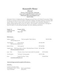Dance Resume For College Beginner Dance Resume Best Resume Examples 5