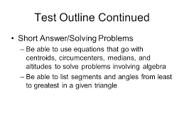 3 test outline continued short answer solving