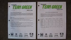 Team Green Jetting Chart Team Green Tech Tips 87 Kx Old School Moto Motocross