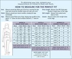 12 Judicious Womens Denim Size Conversion Chart