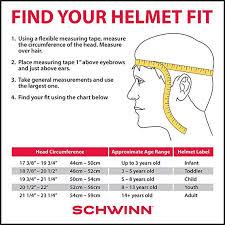 Child Ski Helmet Size Chart Schwinn Classic Bike Helmet