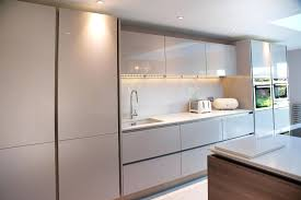 Handless Kitchen At The Depothandleless Cabinets Nz Cream High