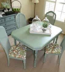green dining room furniture. Alluring Seafoam Green Chair For Your Interior Decor: Traditional Dining Room With Square Wooden Furniture L