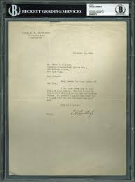 Amazoncom Charles Lindbergh Signed 85x11 1931 Letter Auto Graded
