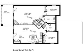floor plans with basement. Ranch House Floor Plans With Custom Basement L