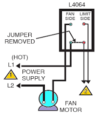 hvac how should i wire this white rodgers fan and limit control i looked on this page and found the following diagram