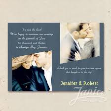 Wedding Announcement Photo Cards Dusty Blue Two Photos Wedding Announcements Cards Wfa005 Wfa005
