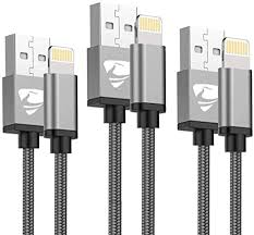 iPhone Charger Cable <b>3M</b>/<b>2M</b>/<b>1M</b> 3Pack Aioneus MFi: Amazon.co ...