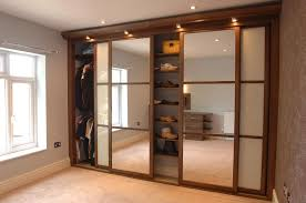 image of sliding mirror closet doors with light