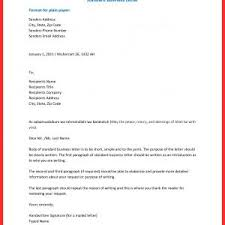 Setting Up A Business Letter Business Letter Format How To New 7 Formats Of Business Letter