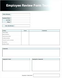 Job Evaluation Template Employee Evaluation Examples Performance Templates Sample Review ...