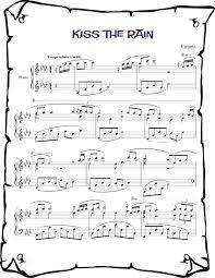 Do you have the sheet music o… Yiruma Kiss The Rain Piano Sheet Music Free Download