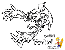 Small Picture Pokemon Coloring Pages X Y Coloring Pages