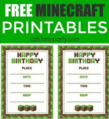 Free Minecraft Printables Psd Png Vector Eps Free