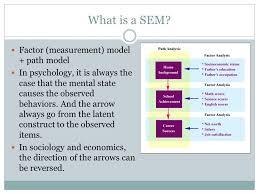 what is a sem factor measurement model path model