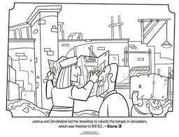 Small Picture Kids coloring page from Whats in the Bible featuring Jeshua and