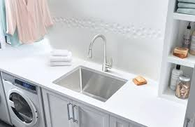 a stunning stainless steel laundry sink with dual mount installationundermount australia undermount dimensions