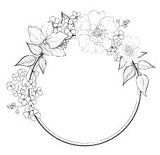 Images Of Flower Wreath Coloring Pages Sabadaphnecottage