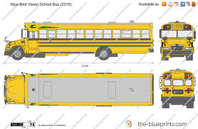 Blue Bird Vision School Bus Level Drawing Template Clipart