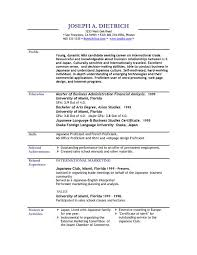 Free Example Of A Resume