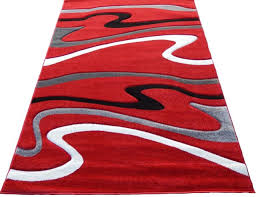 frequently bought together contemporary carpet 5x8 area rug red gray white