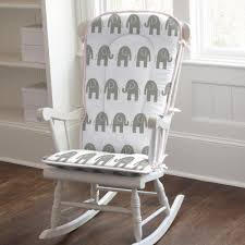 109 00 76 00 pink and gray elephants rocking chair pad