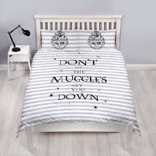 harry potter spell double panel duvet set