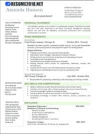 Accountant Resume Sample Professional Cv Template Word