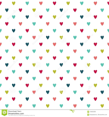 Cute Colorful Seamless Holiday Hearts Background Stock Vector