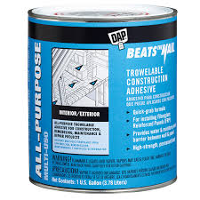 beats the nail all purpose trowelable construction adhesive