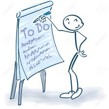To Do List Charts Stick Figure With Flip Chart And Todo List Royalty Free Cliparts