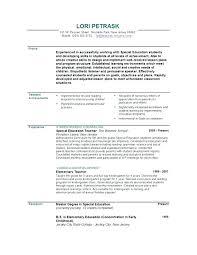 Sample Education Resume Objective Teacher Resume Early Childhood