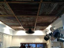 metal ceiling ideas contemporary kitchen corrugated