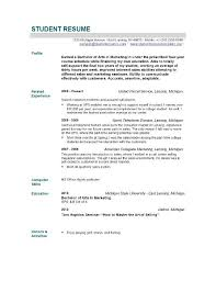 Resume Examples Student New Graduate Resume Good Resume Builder