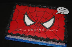 Spiderman Face 12x18 Sheet Cake All Buttercream Everything