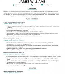 Preschool Teacher Resume Sample Resumelift Com Lesson Plan On