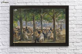 beer garden near the havel under the trees wall decor frame