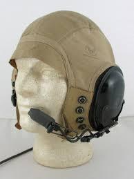 ww2 vintage cloth or leather flight helmet installed with modern anr earphones flighthelmet com