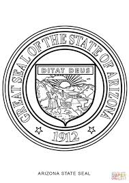 Small Picture Arizona State Seal coloring page Free Printable Coloring Pages