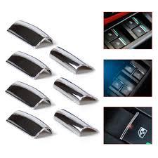 beler 7Pcs Chrome Door Window Switch Lift Button Cover Trim For ...