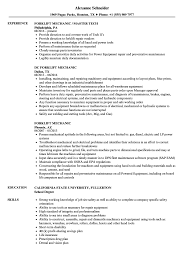 Mechanic Resume Forklift Mechanic Resume Samples Velvet Jobs 8