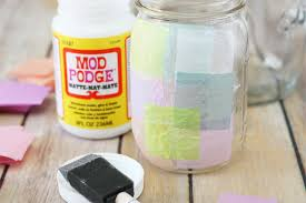 Decorate Glass Jar Tissue Paper Stained Glass Jars Crafts Unleashed 57