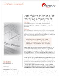 Compliance Issue Analysis Alternative Methods For Verifying