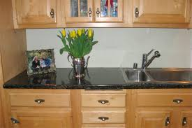 simple kitchen design with black faux granite countertops double bowl undermount stainless steel sink