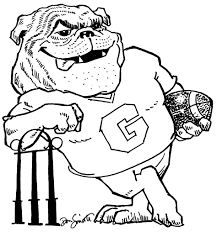 Small Picture Coloring Pages Uga Alumni Dawg Coloring Sheet Printable Uga