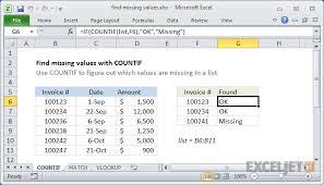 rate comparison format in excel excel formula find missing values exceljet