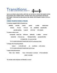 best transitional phrases ideas transition  basic transitional phrases handout