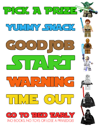 This Is A Lego Star Wars Behavior Chart That I Made For My 5